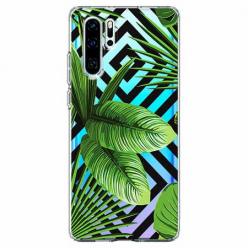 Etui na telefon Huawei P30 Pro -  Egzotyczne liście bananowca.