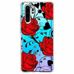 Etui na telefon Huawei P30 Pro - Czerwone róże.