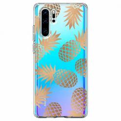 Etui na telefon Huawei P30 Pro - Złote ananasy.