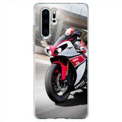 Etui na telefon Huawei P30 Pro - Motocykl ścigacz