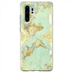 Etui na telefon Huawei P30 Pro - Mapa świata