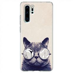 Etui na telefon Huawei P30 Pro - Kot w okularach