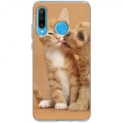Etui na telefon Huawei P30 Lite - Jak pies z kotem