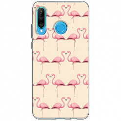 Etui na telefon Huawei P30 Lite - Flamingi