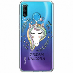 Etui na telefon Huawei P30 Lite - Dream unicorn - Jednorożec.