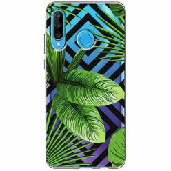 Etui na telefon Huawei P30 Lite -  Egzotyczne liście bananowca.