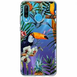 Etui na telefon Huawei P30 Lite - Egzotyczne tukany.