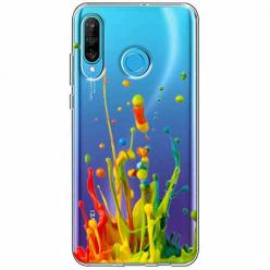 Etui na telefon Huawei P30 Lite - Kolorowy splash.
