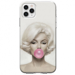 Etui na telefon Apple iPhone 11 Pro Max - Monroe z gumą balonową