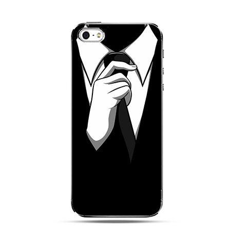 Etui na Apple iPhone 6 plus - Czarny krawat