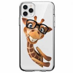 Etui na telefon Apple iPhone 11 Pro Max - Wesoła żyrafa w okularach.