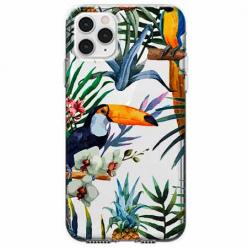 Etui na telefon Apple iPhone 11 Pro Max - Egzotyczne tukany.