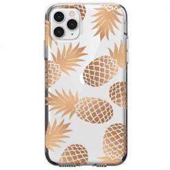 Etui na telefon Apple iPhone 11 Pro Max - Złote ananasy.
