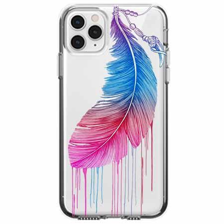 Etui na telefon Apple iPhone 11 Pro Max - Watercolor piórko.