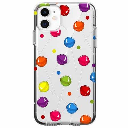 Etui na telefon Apple iPhone 11 - Kolorowe lizaki.