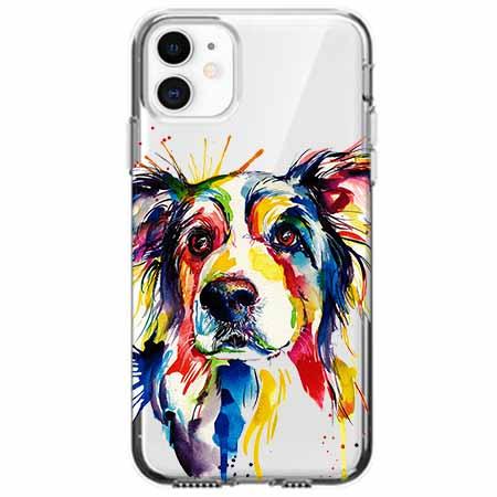 Etui na telefon Apple iPhone 11 - Watercolor pies.