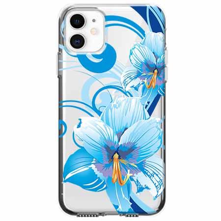 Etui na telefon Apple iPhone 11 - Niebieski kwiat północy.