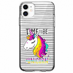 Etui na telefon Apple iPhone 11 - Time to be unicorn - Jednorożec.