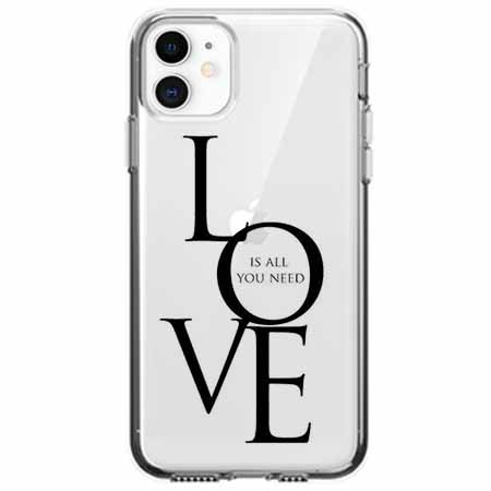 Etui na telefon Apple iPhone 11 - All you need is LOVE.
