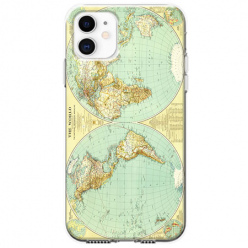 Etui na telefon Apple iPhone 11 - Mapa świata