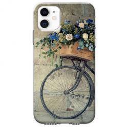 Etui na telefon Apple iPhone 11 - Rower z kwiatami