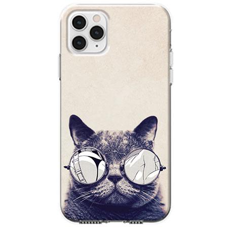 Etui na telefon Apple iPhone 11 Pro - Kot w okularach