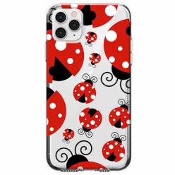 Etui na telefon Apple iPhone 11 Pro - Czerwone wesołe biedronki.
