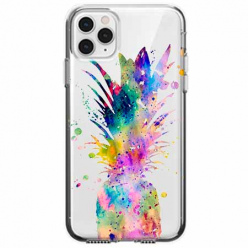 Etui na telefon Apple iPhone 11 Pro - Watercolor ananasowa eksplozja.