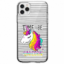 Etui na telefon Apple iPhone 11 Pro - Time to be unicorn - Jednorożec.