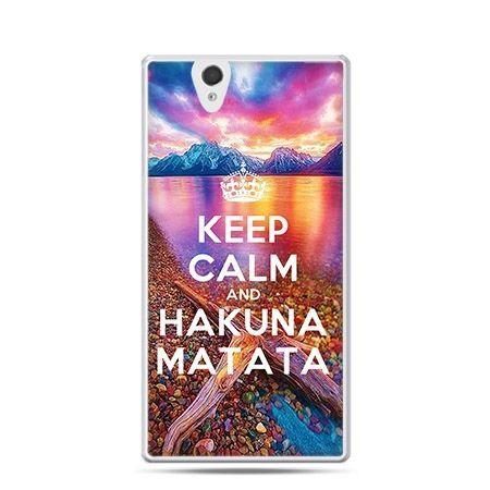 Keep calm and Hakuna Matata etui z nadrukiem dla  Xperia Z