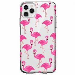 Etui na telefon Apple iPhone 11 Pro - Różowe flamingi.