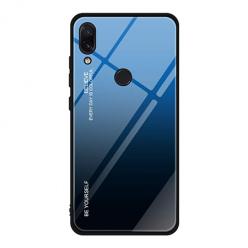 Etui na telefon Xiaomi Redmi Note 7 - Ombre Glass - Czarno/Niebieski.