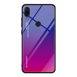 Etui na telefon Huawei P20 Lite - Ombre Glass - Niebiesko/Różowy.