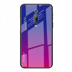 Etui na telefon Xiaomi Mi 9T - Ombre Glass - Niebiesko/Różowy.