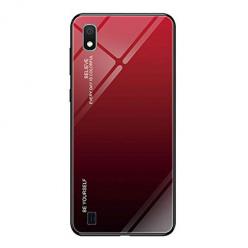Etui na telefon Samsung Galaxy A10 - Ombre Glass - Czarno/Czerwony.