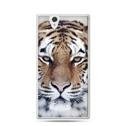 Śnieżny tygrys etui z nadrukiem dla  Xperia Z