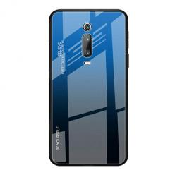 Etui na telefon Xiaomi Mi 9T Pro - Ombre Glass - Czarno/Niebieski.