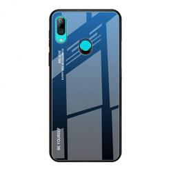 Etui na telefon Huawei P Smart Z - Ombre Glass - Czarno/Niebieski.