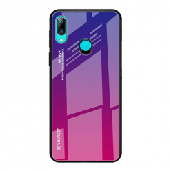 Etui na telefon Huawei P Smart Z - Ombre Glass - Niebiesko/Różowy.
