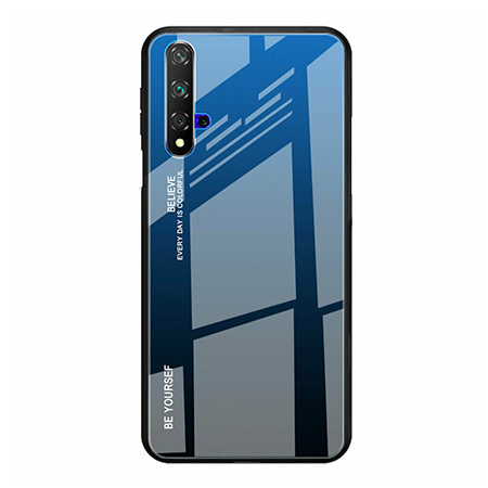 Etui na telefon Huawei Honor 20 - Ombre Glass - Czarno/Niebieski.
