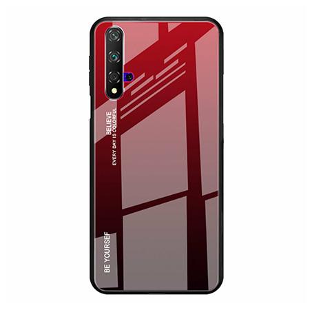 Etui na telefon Huawei Honor 20 - Ombre Glass - Czarno/Czerwony.