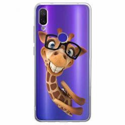 Etui na Xiaomi Redmi Note 7 Pro - Wesoła żyrafa w okularach.