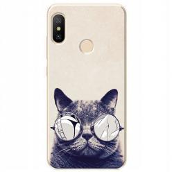 Etui na Xiaomi Mi A2 Lite - Kot w okularach