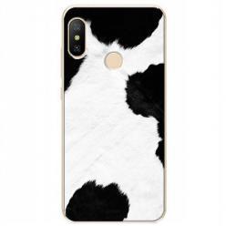 Etui na Xiaomi Mi A2 Lite - Biało czarna krowa