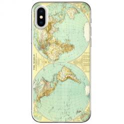 Etui na telefon iPhone XS Max - Mapa świata