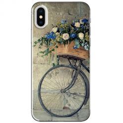 Etui na telefon iPhone XS Max - Rower z kwiatami