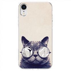Etui na telefon iPhone XR - Kot w okularach