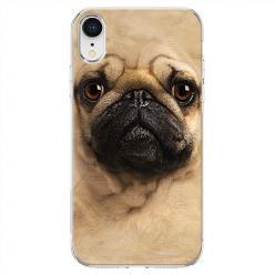 Etui na telefon iPhone XR - Pies Szczeniak face 3d