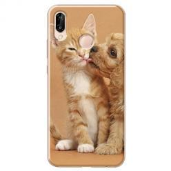 Etui na Huawei P20 Lite - Jak pies z kotem