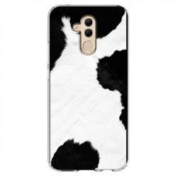 Etui na Huawei Mate 20 Lite - Biało czarna krowa